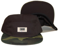 <!--020130604057064-->CMNDR - '2 Tone - Camo' [(Black) Five Panel Camper Hat]