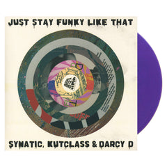 "Symatic, Kutclass & Darcy D b/w Noka & M_Cue + Electrofood_CH + Symatic - 'Just Stay Funky Like Za' [(Purple Silk) 7"" Vinyl Single]"