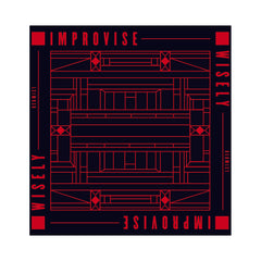 "Redmist - 'Improvise Wisely' [(Black) 12"" Vinyl Single]"