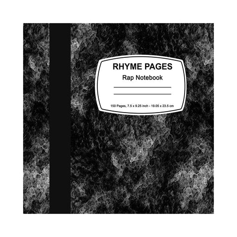 "[""RHYME PAGES - 'Rhyme Pages Rap Notebook' [Book]""]"