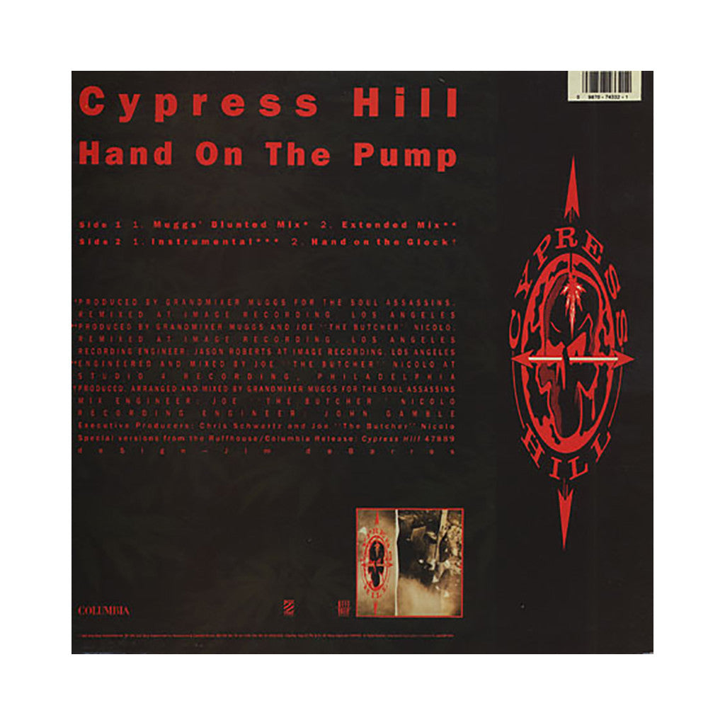 "<!--1992010117-->Cypress Hill - 'Hand On The Pump (Blunted Mix)/ Hand On The Pump/ Hand On The Glock' [(Black) 12"" Vinyl Single]"