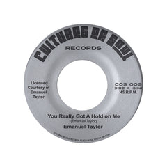 "<!--020120724052819-->Emanuel Taylor - 'You Really Got A Hold On Me/ Society' [(Black) 7"" Vinyl Single]"