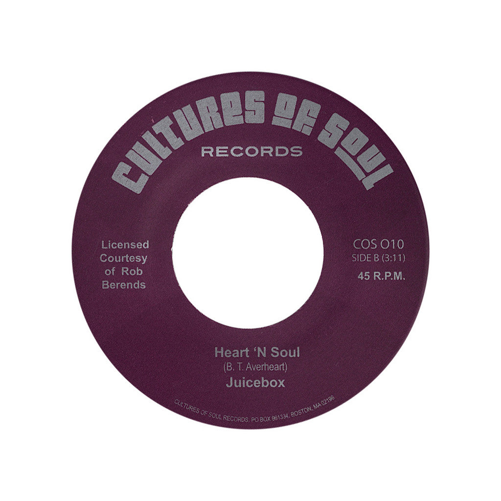 "Juicebox - 'Heart 'N Soul/ My Baby Likes To Boogaloo' [(Black) 7"" Vinyl Single]"