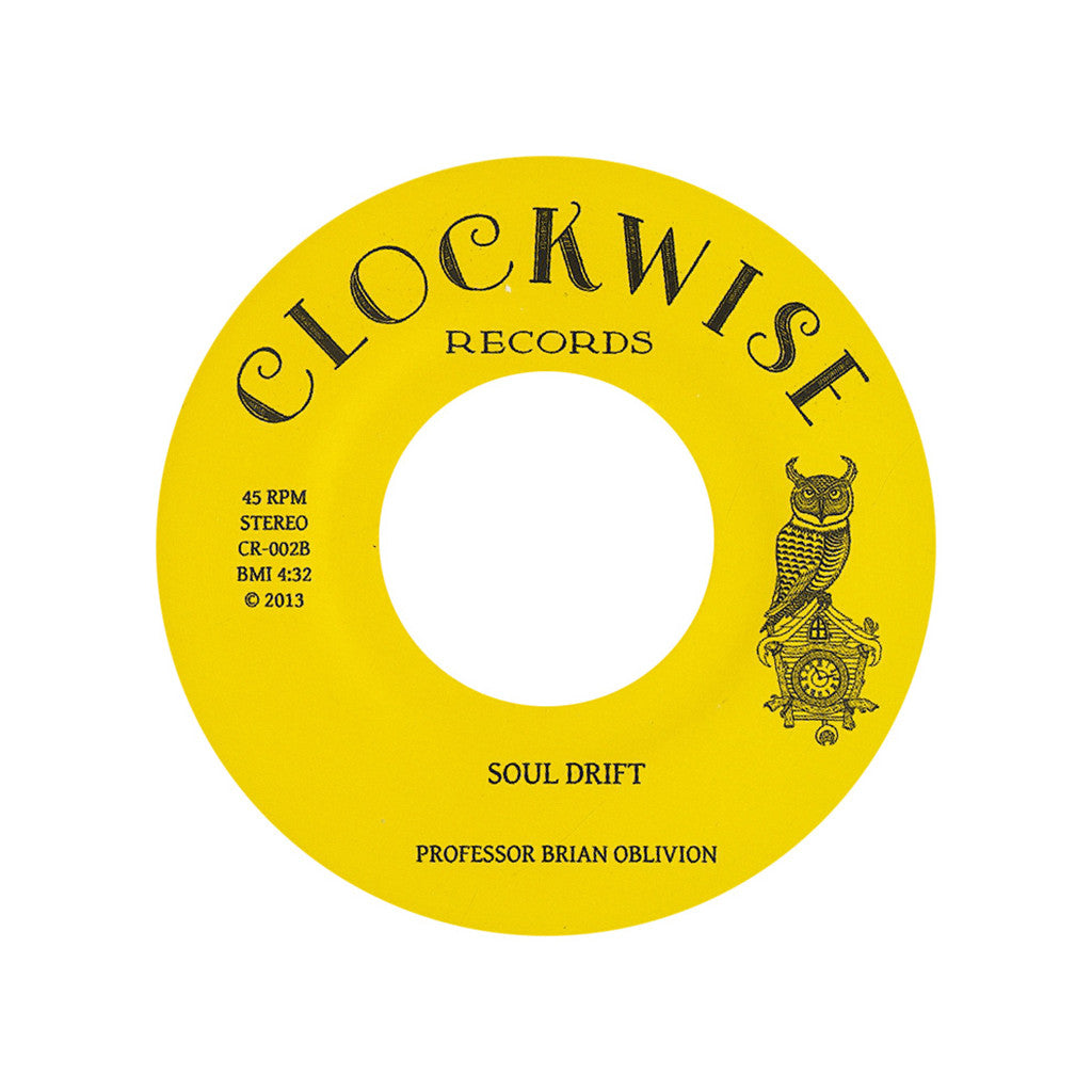 "<!--120130920058496-->Professor Brian Oblivion - 'Hopscotch/ Soul Drift' [(Black) 7"" Vinyl Single]"