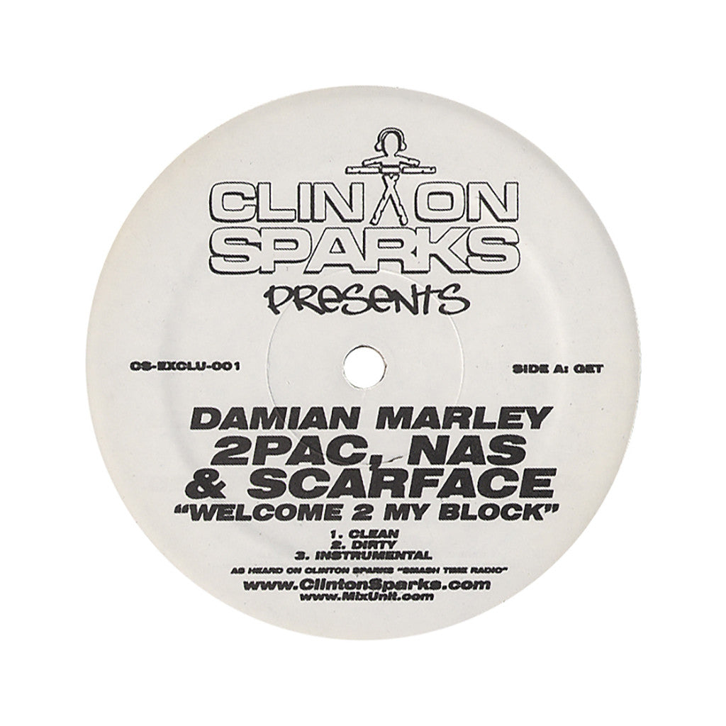 "<!--020050607005216-->Clinton Sparks Presents - 'Welcome 2 My Block/ Now You Know/ Young Gunnerz' [(Black) 12"""" Vinyl Single]"