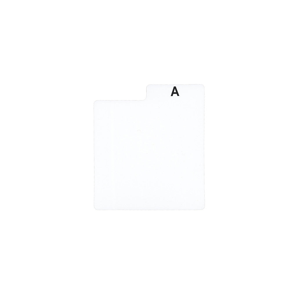"Bags Unlimited - ''A-Z' 7"" Vinyl Record Dividers' [(White) Divider]"