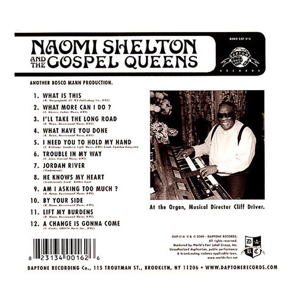 <!--120090526016581-->Naomi Shelton & The Gospel Queens - 'What Have You Done, My Brother?' [CD]