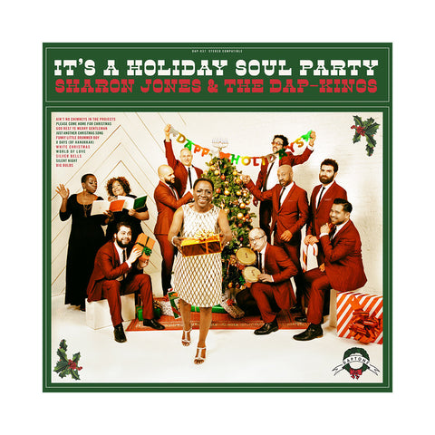 "[""Sharon Jones & The Dap-Kings - 'It's A Holiday Soul Party' [(Green) Vinyl LP]""]"
