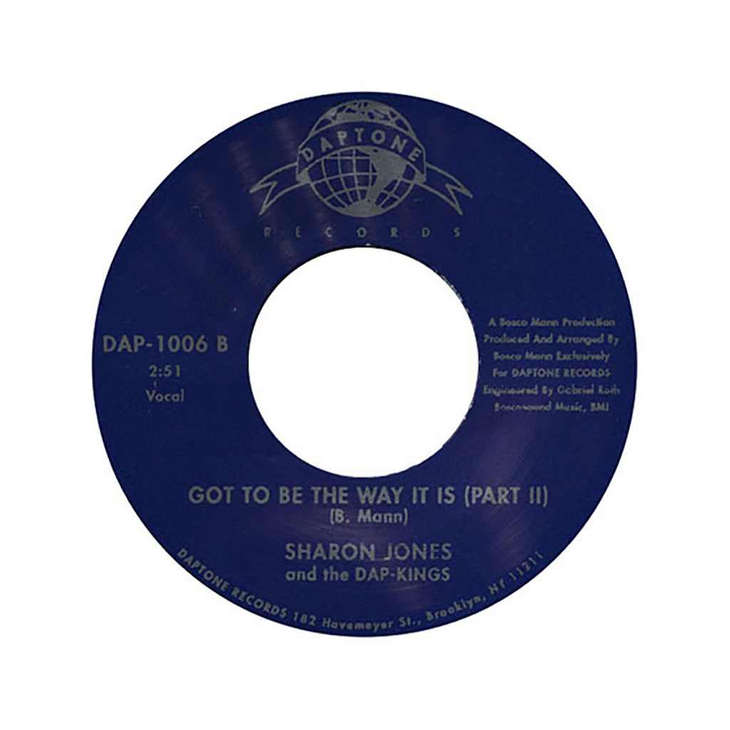 "<!--020020101011612-->Sharon Jones & The Dap-Kings - 'Got To Be The Way It Is Pts. 1 & 2' [(Black) 7"" Vinyl Single]"