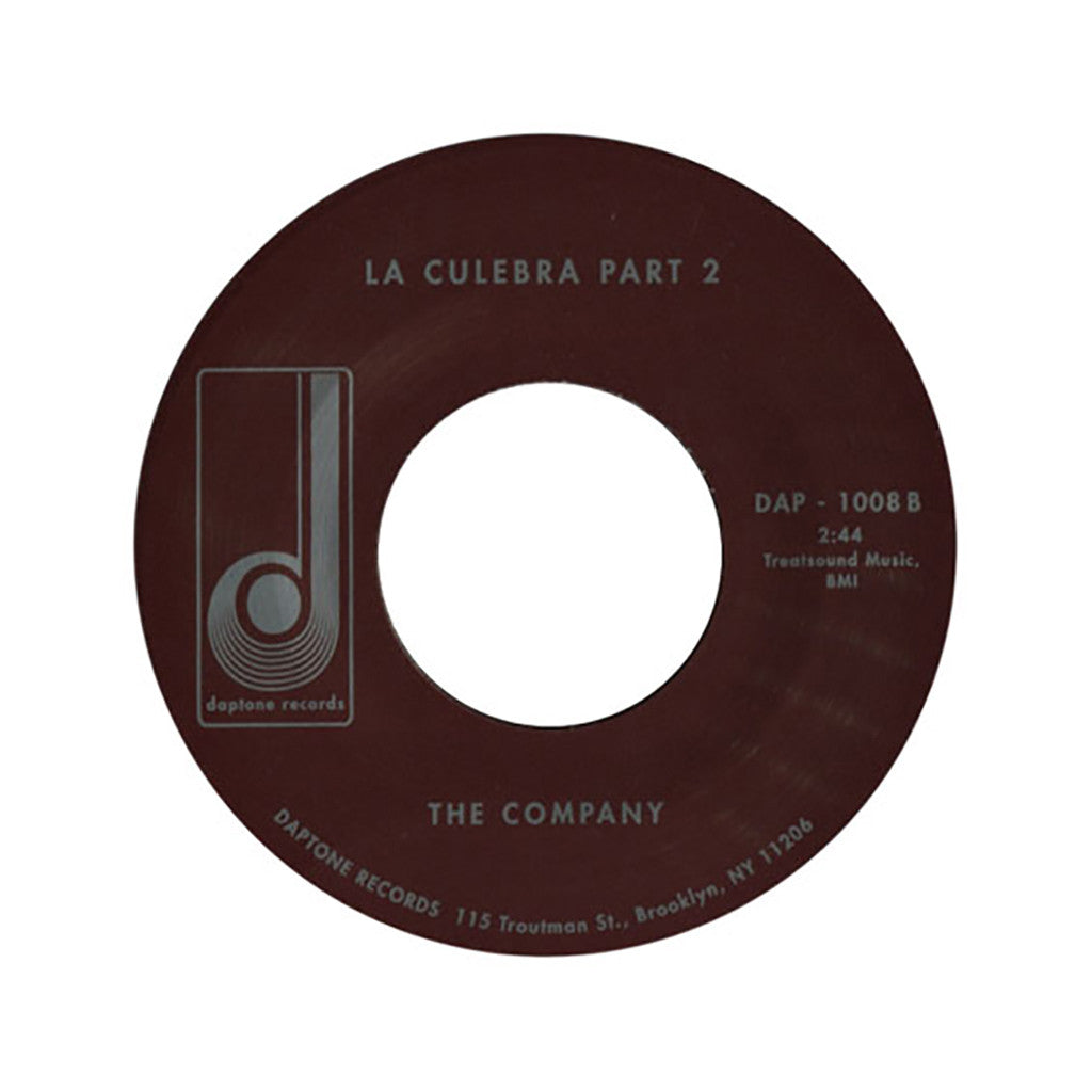 "<!--120020319007057-->The Company - 'La Culebra/ La Culebra Pt. II' [(Black) 7"" Vinyl Single]"