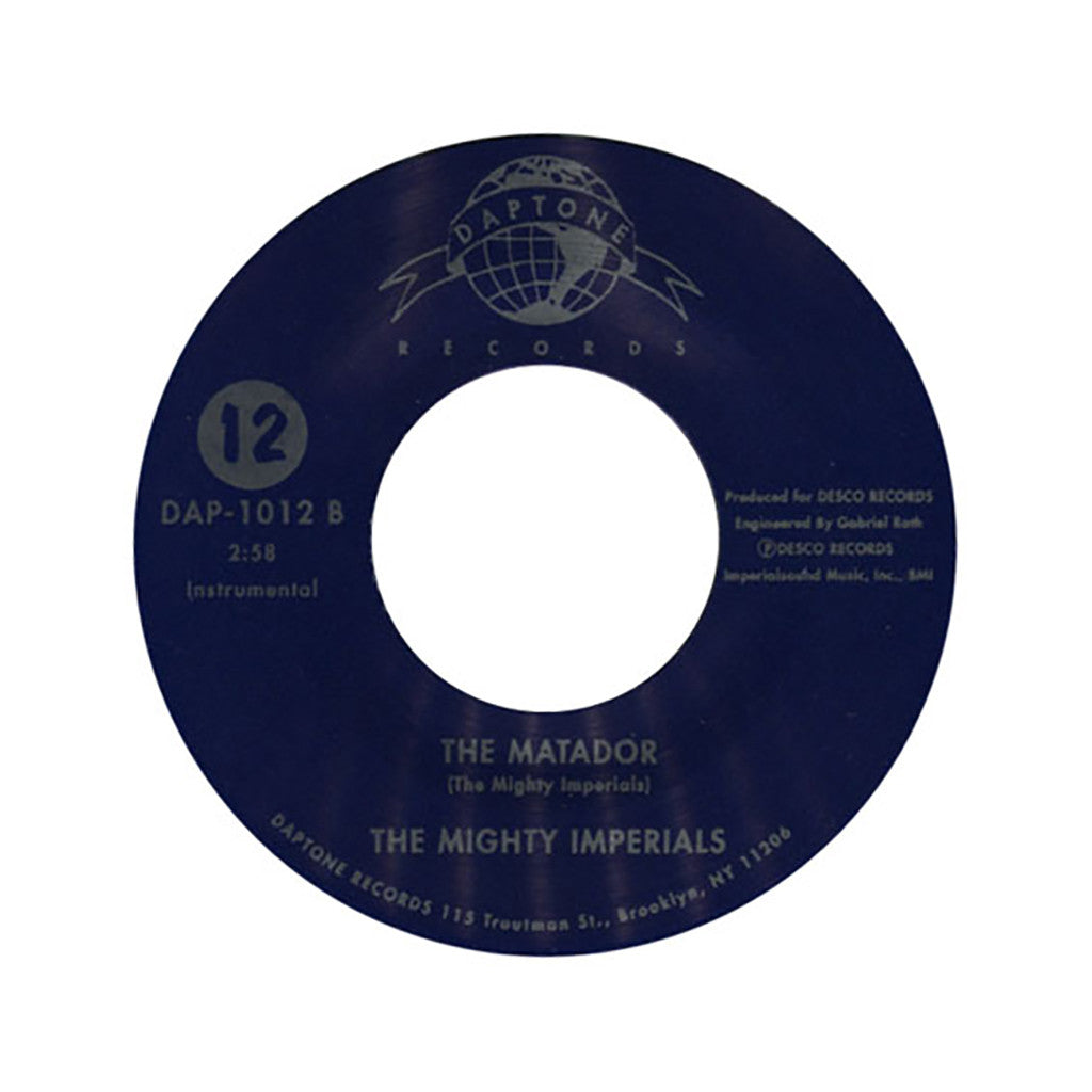 "Joseph Henry & The Mighty Imperials - 'I've Never Found A Girl/ The Matador' [(Black) 7"" Vinyl Single]"