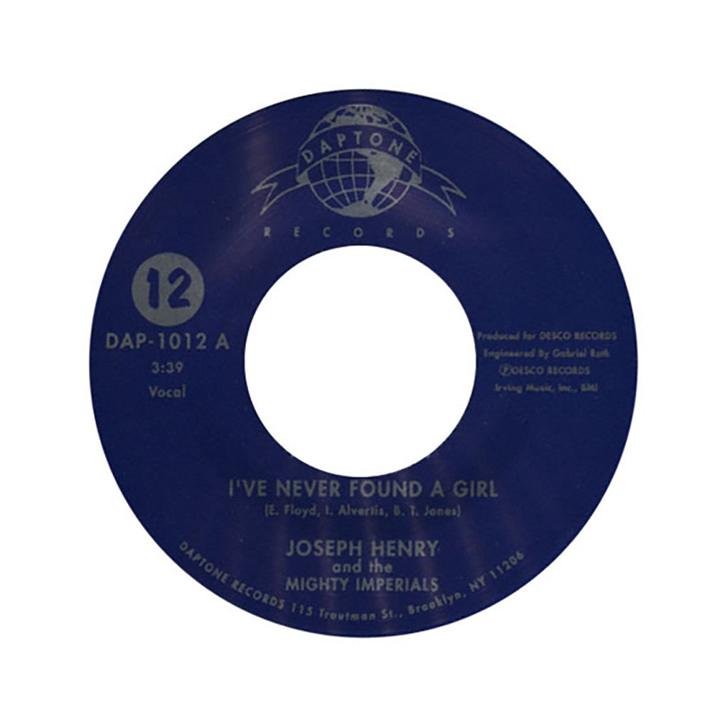 "<!--020031202012060-->Joseph Henry & The Mighty Imperials - 'I've Never Found A Girl/ The Matador' [(Black) 7"" Vinyl Single]"