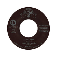 "<!--120040101011614-->Sharon Jones & The Dap-Kings - 'Genuine Pts. 1 & 2' [(Black) 7"""" Vinyl Single]"