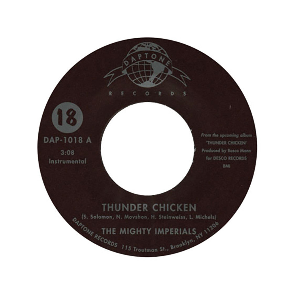"<!--020040101011486-->The Mighty Imperials - 'Thunder Chicken/ Chico's Barnyard' [(Black) 7"""" Vinyl Single]"