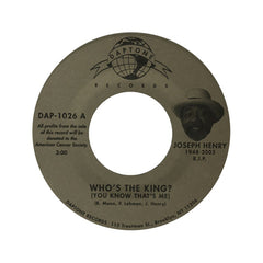 "<!--020060224012061-->Joseph Henry - 'Who's The King (You Know That's Me)/ I Feel Right' [(Black) 7"" Vinyl Single]"