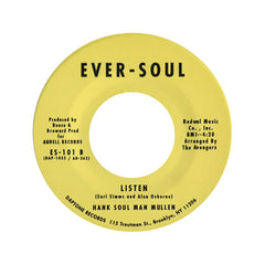 "<!--120080108012150-->Hank """"Soul Man"""" Mullen - 'He Upset Your Dreams/ Listen' [(Black) 7"""" Vinyl Single]"