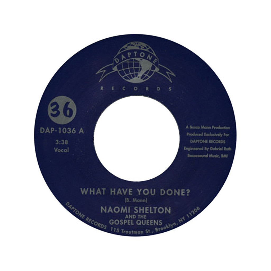 "<!--120080102011818-->Naomi Shelton & The Gospel Queens - 'What Have You Done?/ I'll Take The Long Road' [(Black) 7"" Vinyl Single]"