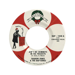 "<!--020090101011605-->Sharon Jones & The Dap-Kings b/w Binky Griptite - 'Ain't No Chimneys In the Projects b/w Holiday Breakdown '09' [(Black) 7"""" Vinyl Single]"