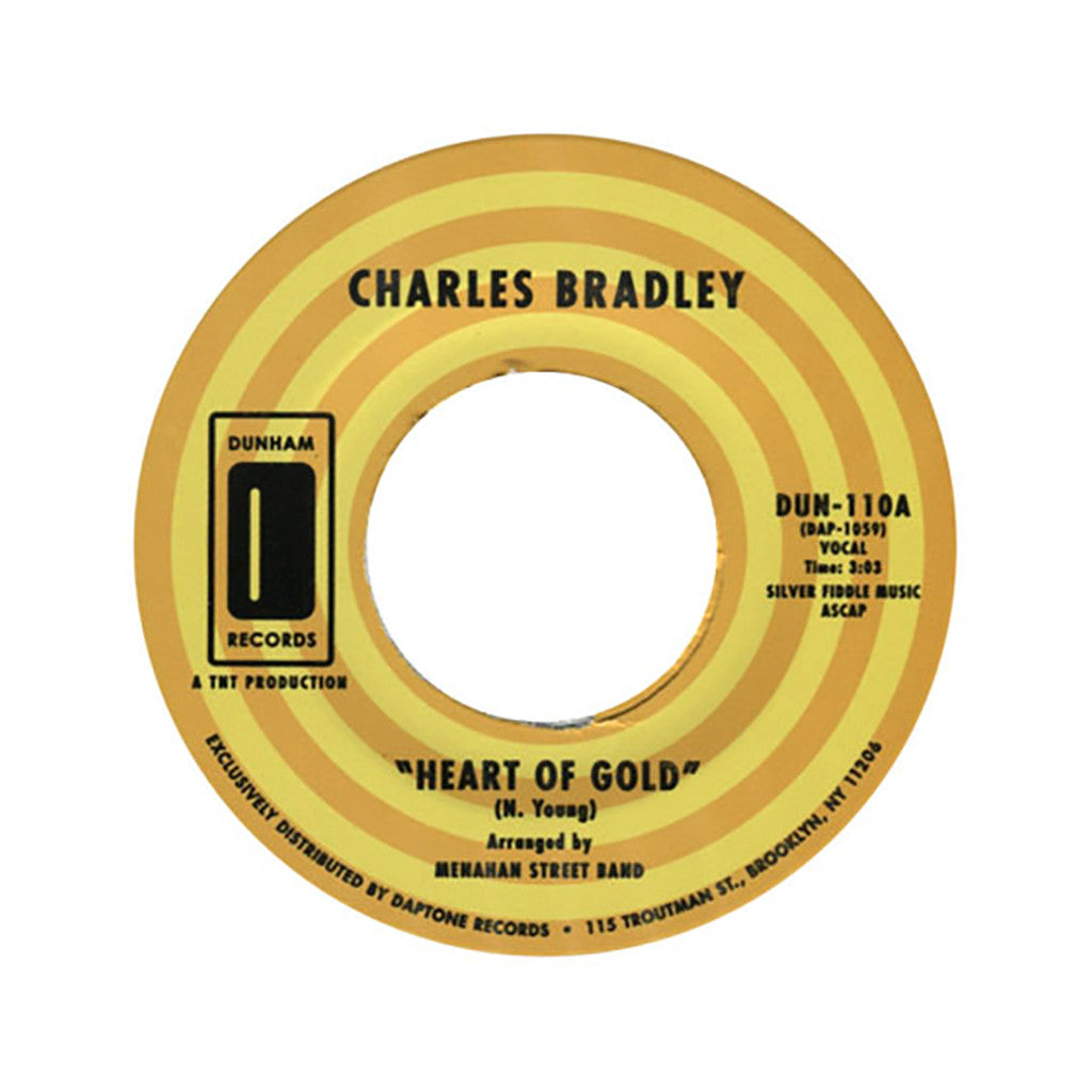 "Charles Bradley & Menahan Street Band - 'Heart Of Gold/ In You (I Found A Love)' [(Black) 7"" Vinyl Single]"
