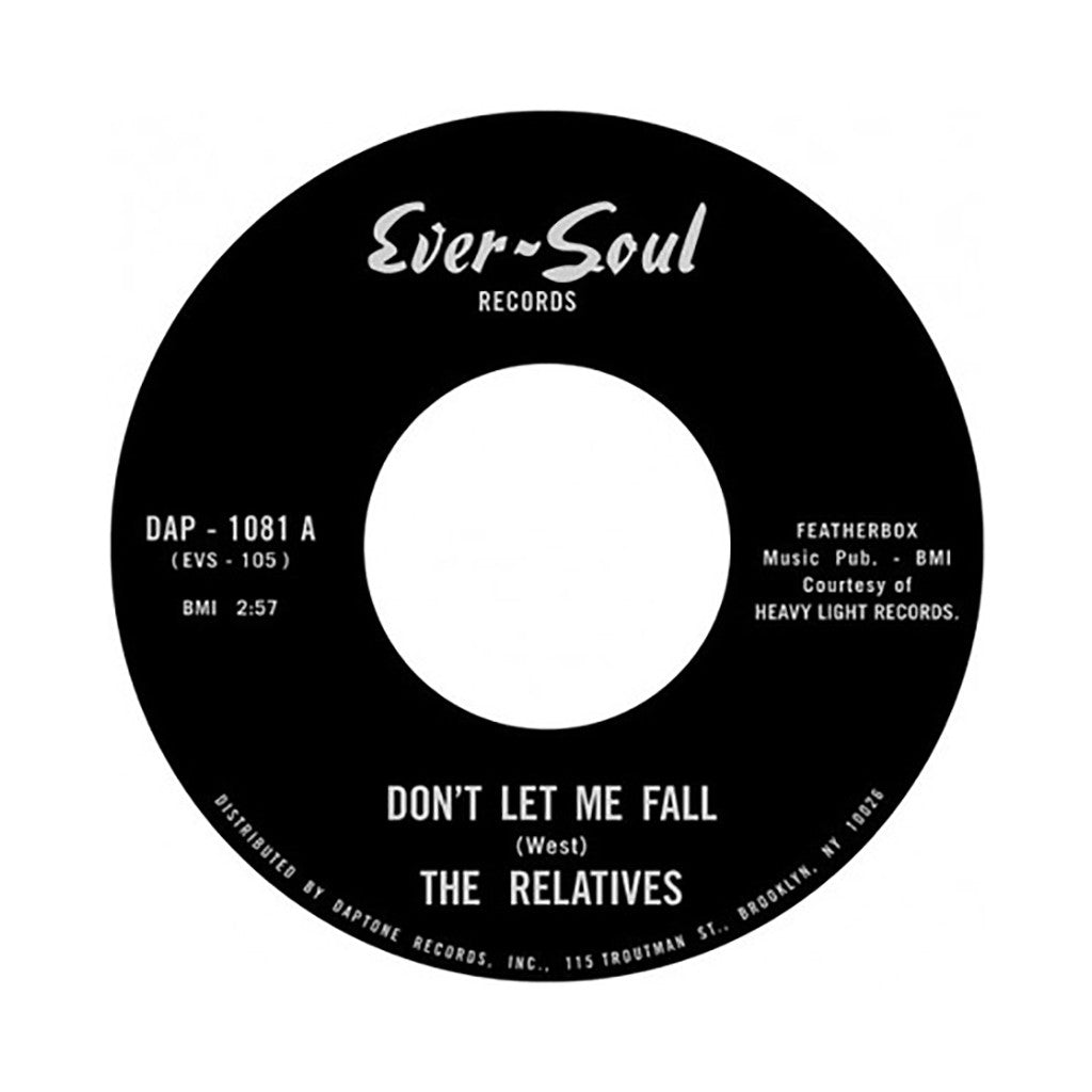 "<!--020140715064665-->The Relatives - 'Don't Let Me Fall/ Leave Something Worthwhile' [(Black) 7"" Vinyl Single]"