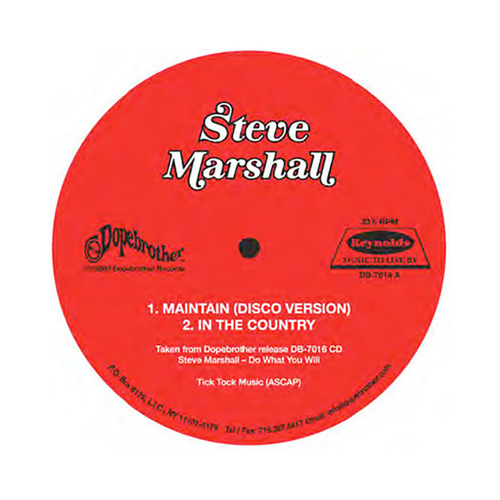 "<!--020090505016511-->Steve Marshall - 'Maintain (Disco Version)/ In The Country/ Do What You Will (Disco Version)/ You Are The World' [(Black) 12"""" Vinyl Single]"