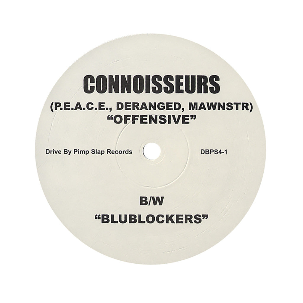 "Connoisseurs - 'Offensive/ Blublockers' [(Black) 12"" Vinyl Single]"