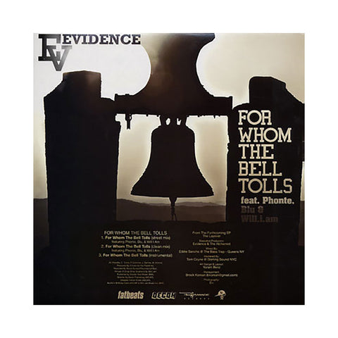 "Evidence - 'The Layover/ For Whom The Bell Tolls' [(Black) 12"""" Vinyl Single]"