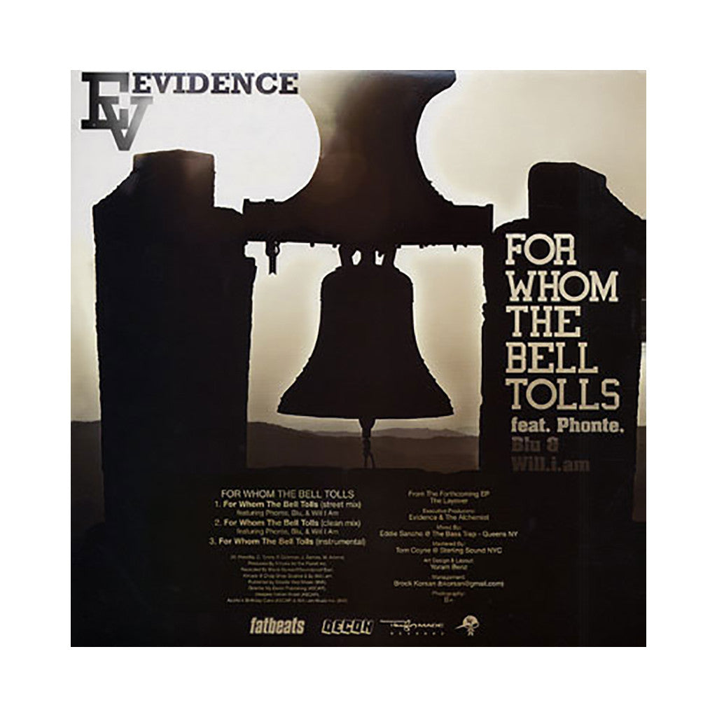 <!--2009011401-->Evidence - 'For Whom The Bell Tolls (INSTRUMENTAL)' [Streaming Audio]