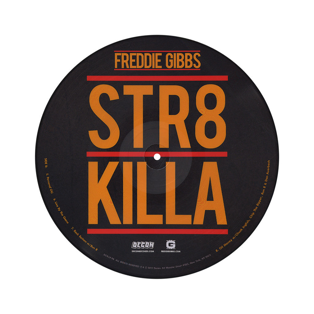 <!--2012081418-->Freddie Gibbs - 'STR8 Killa' [(Picture Disc) Vinyl EP]