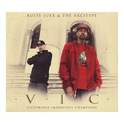 "[""Ruste Juxx & The Arcitype - 'V.I.C. (Victorious Impervious Champions)' [CD]""]"