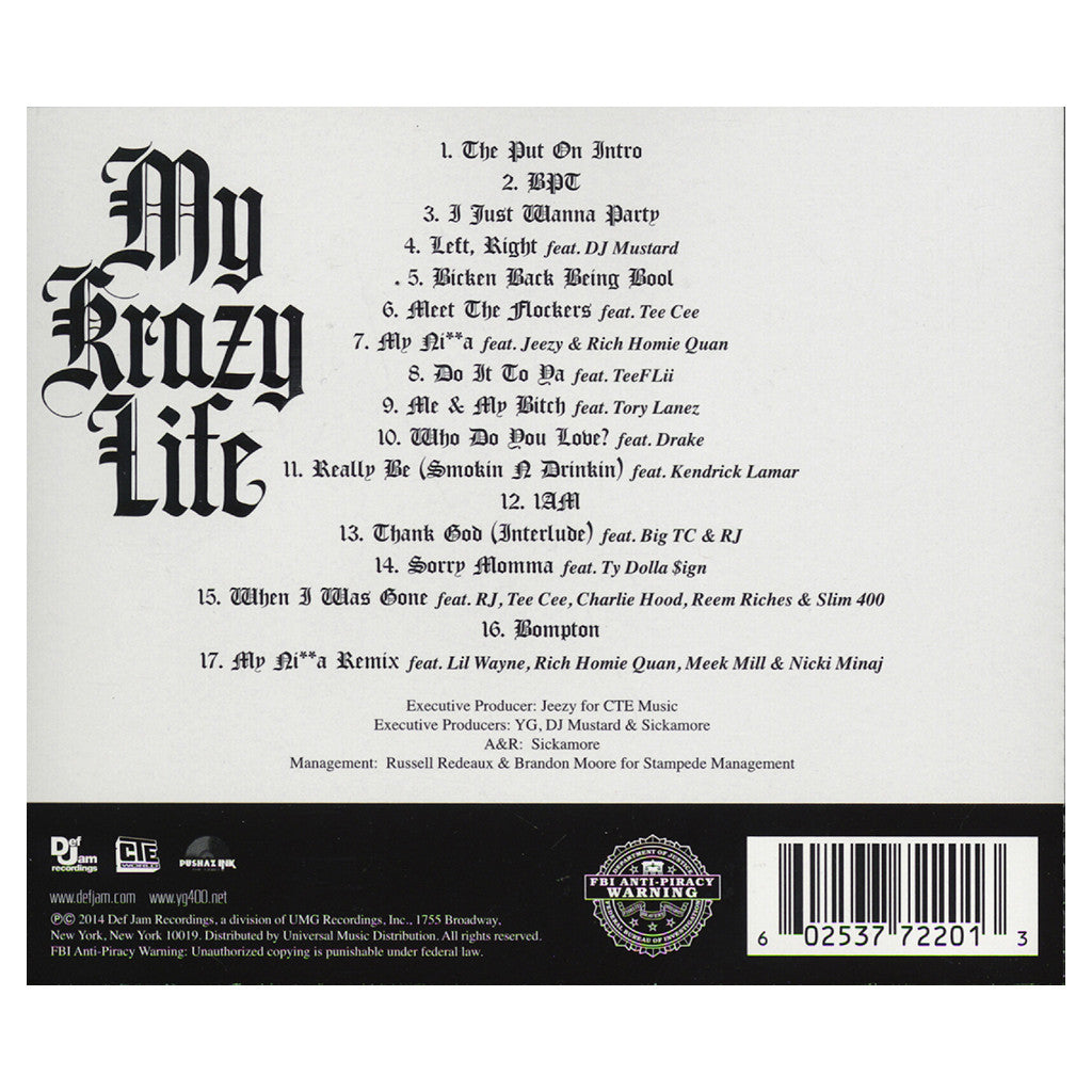 <!--2014031811-->YG - 'My Krazy Life (Deluxe Edition)' [CD]