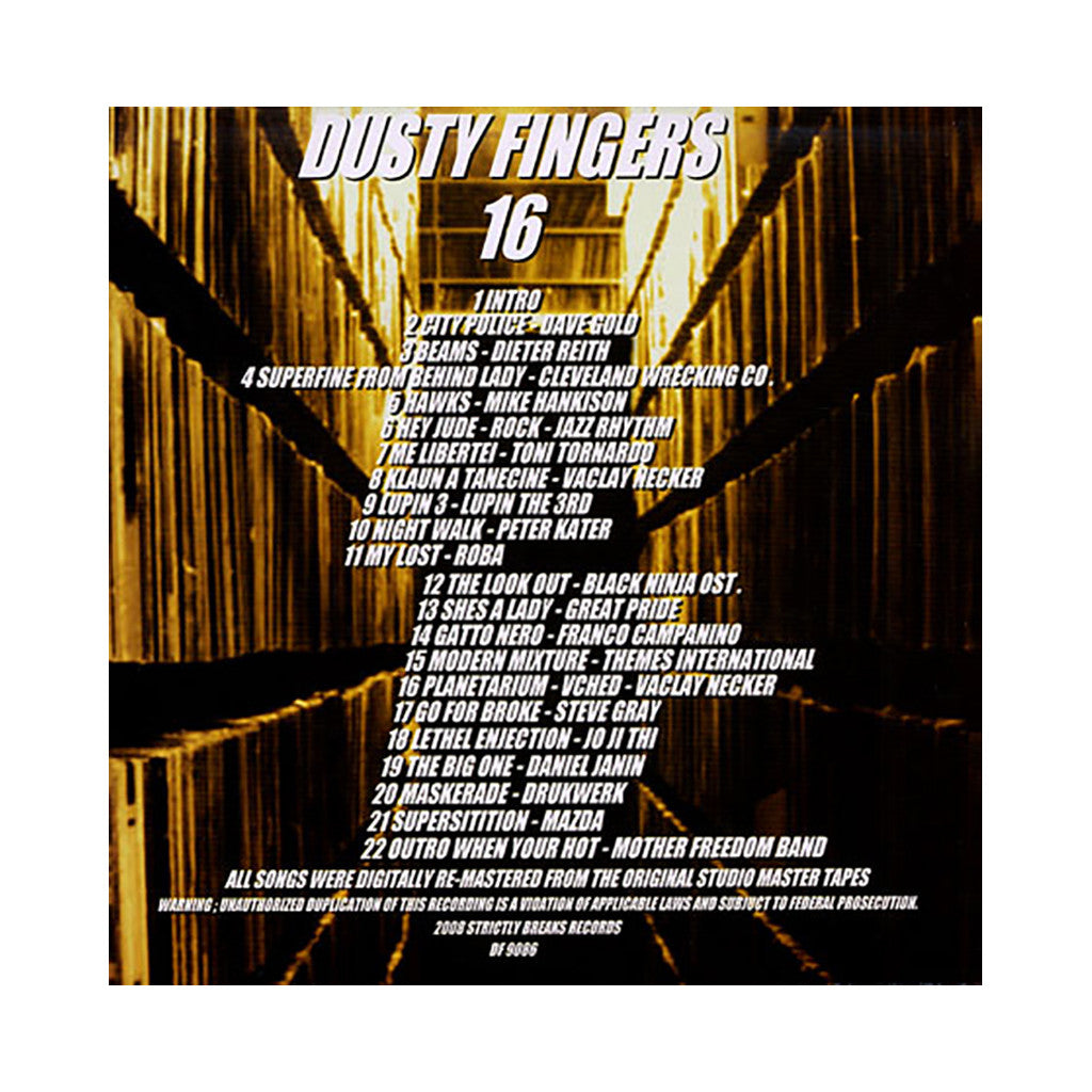 <!--020091117019144-->Dusty Fingers - 'Vol. 16' [(Black) Vinyl [2LP]]