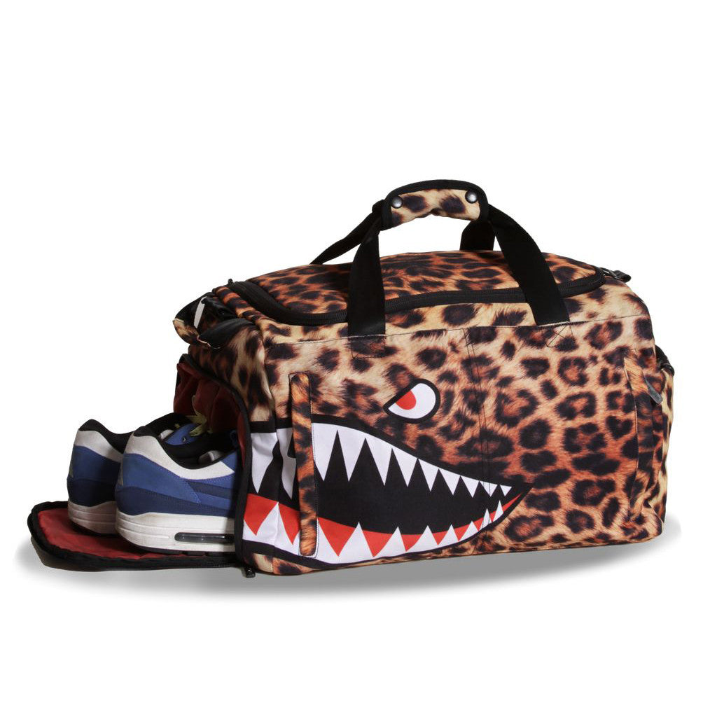 <!--2013010818-->Sprayground - 'Leopard Shark Weekender' [(Multi-Color) Duffel Bag]