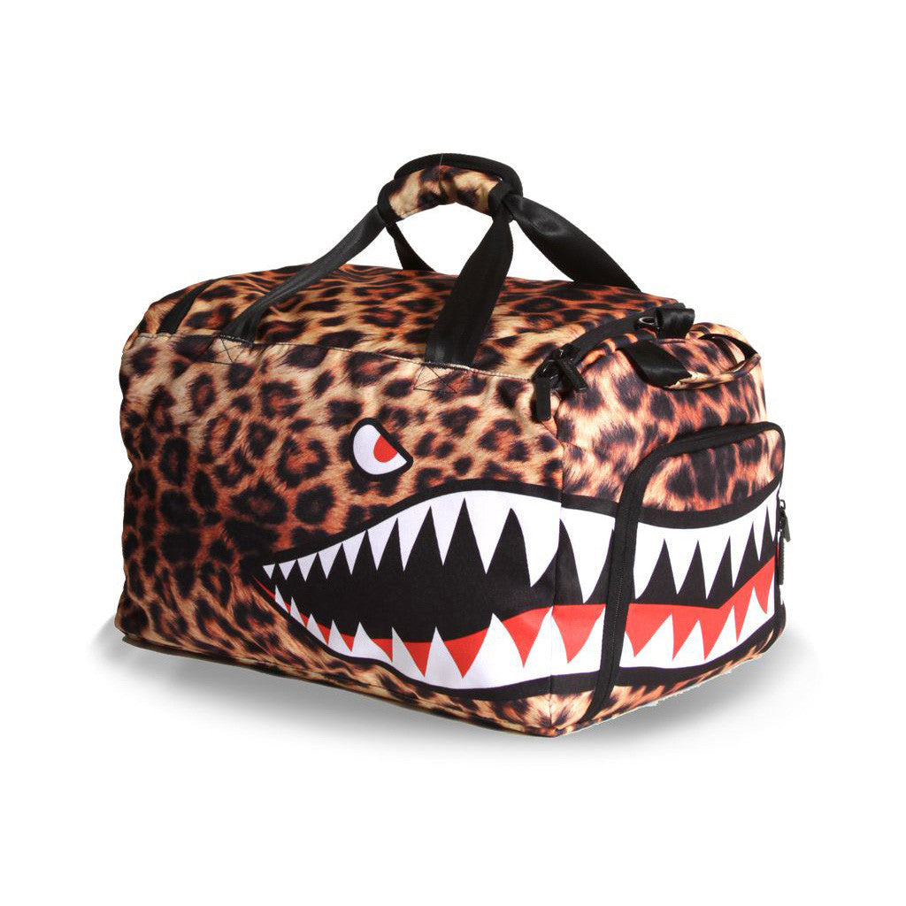 <!--020130108053131-->Sprayground - 'Leopard Shark Weekender' [(Multi-Color) Duffel Bag]