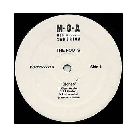 "The Roots - 'Clones/ Section' [(Black) 12"""" Vinyl Single]"