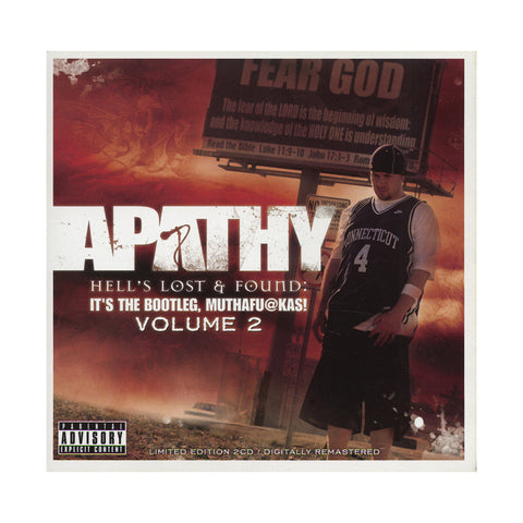 "[""Apathy - 'Hell's Lost & Found: It's The Bootleg, Muthafuckas! Vol. 2' [CD [2CD]]""]"