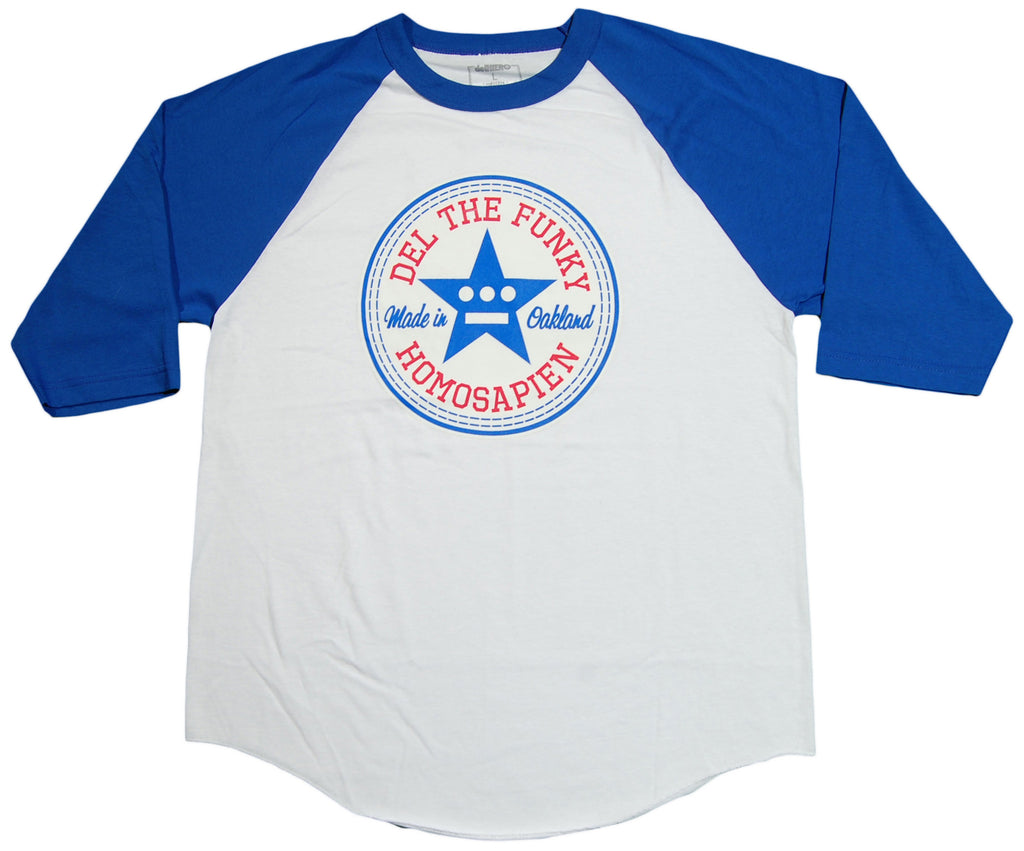 <!--2013100158-->delHiero (Hieroglyphics) - 'Made In Oakland - Blue' [(White) T-Shirt]