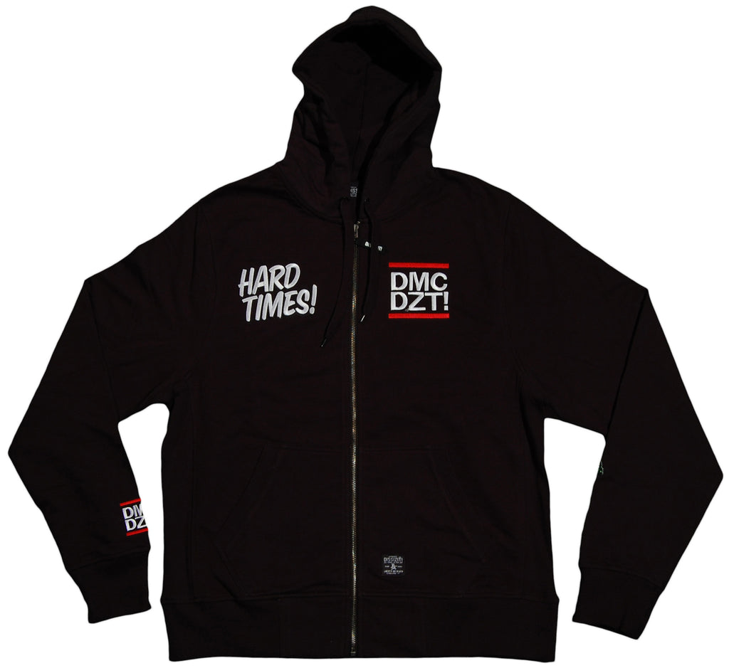 <!--2011101145-->Dissizit! x DMC - 'Hard Times' [(Black) Hooded Sweatshirt]