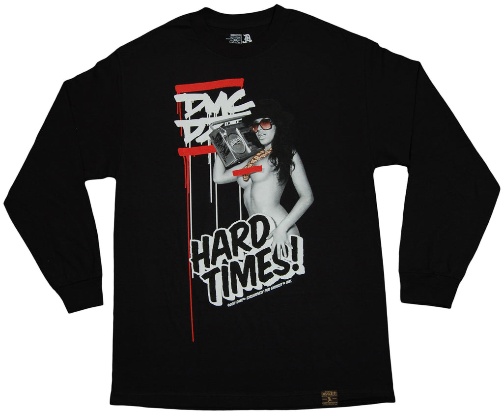 <!--2011101140-->Dissizit! x DMC - 'Hard Times' [(Black) Long Sleeve Shirt]