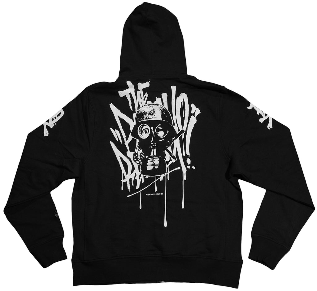 <!--2011082354-->Dissizit! x The Psycho Realm - 'Slick Mask' [(Black) Hooded Sweatshirt]