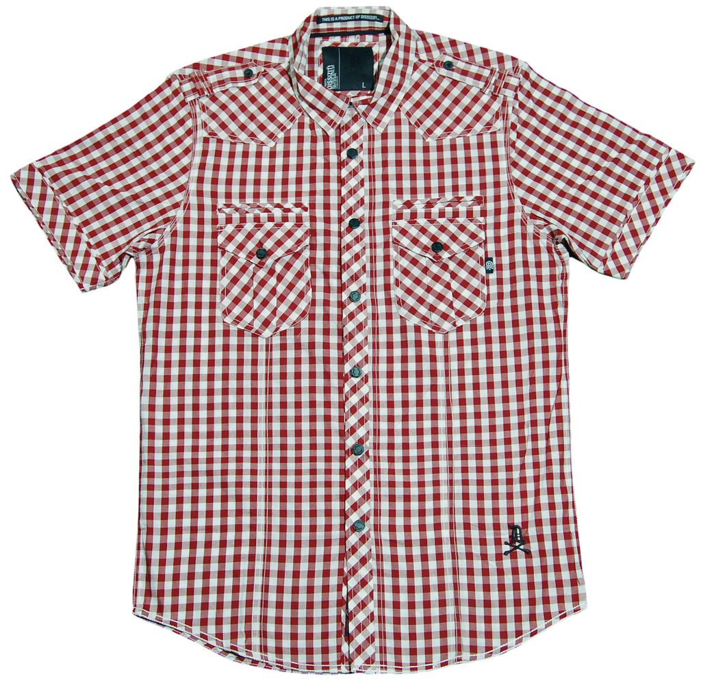 <!--2012042453-->Dissizit! - 'Liberty - Red Gingam' [(Dark Red) Button Down Shirt]