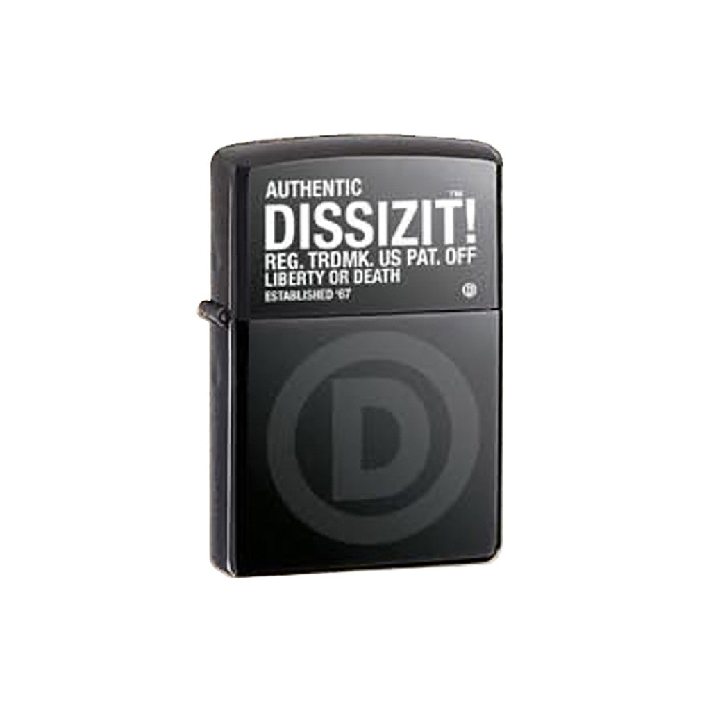 <!--020110830034742-->Dissizit! x Zippo - 'Registered D' [(Black) Lighters & Case]