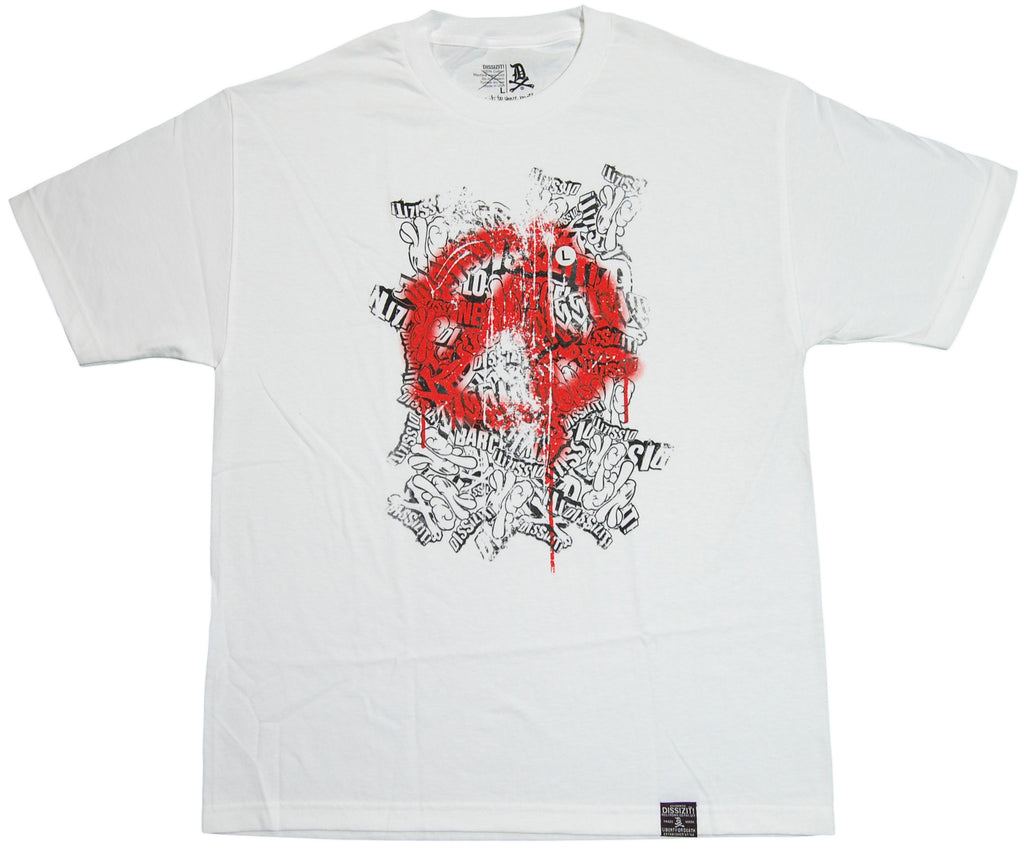 <!--2011091311-->Dissizit! - 'Anarchy Logo Mash' [(White) T-Shirt]