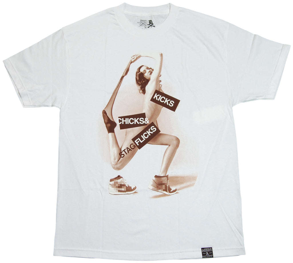 <!--2011101854-->Dissizit! - 'Stag Flicks' [(White) T-Shirt]