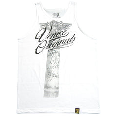 <!--2012062643-->Dissizit! x Venice Originals - 'Pillars' [(White) Tank Top]
