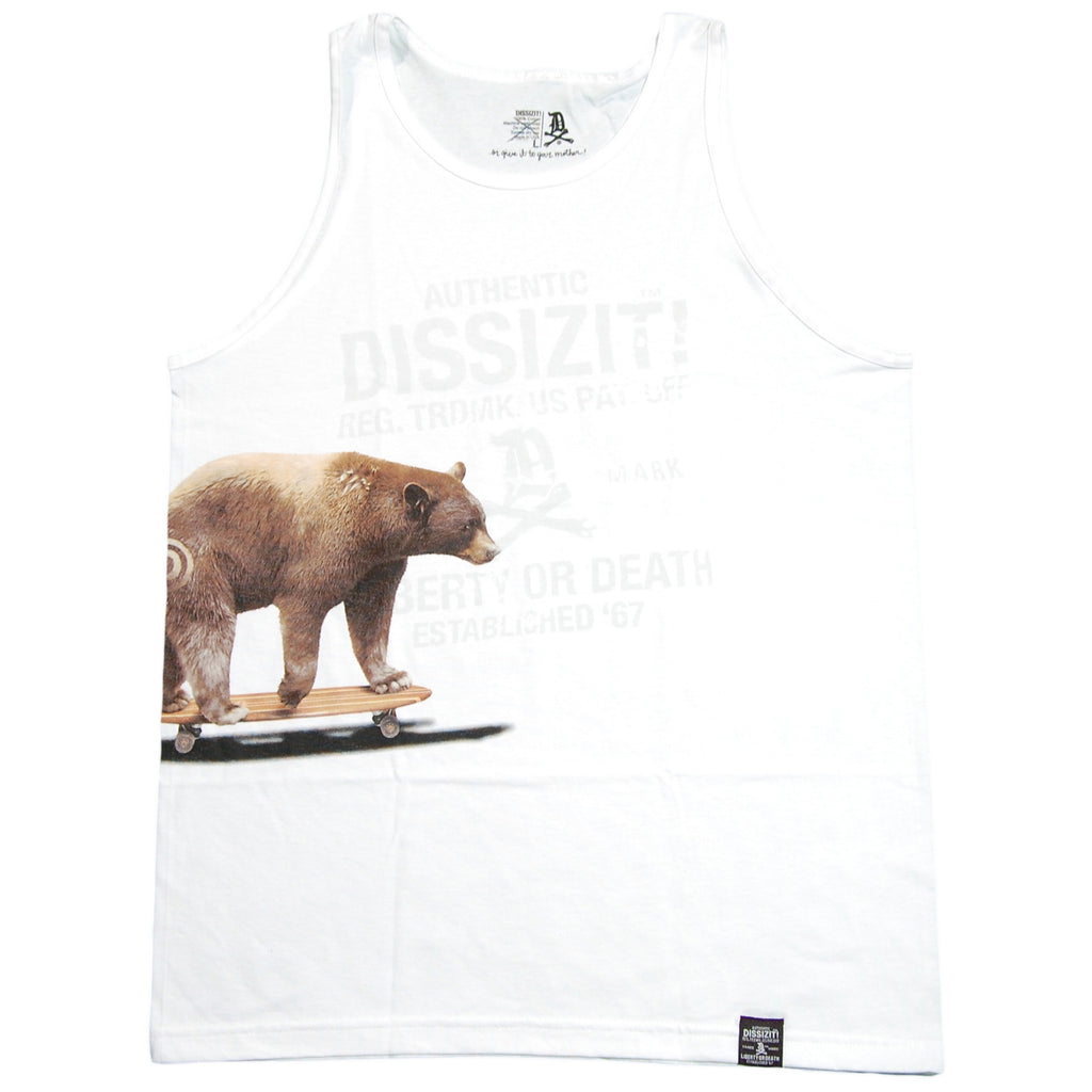 <!--2012062601-->Dissizit! - 'Cali Cruiser' [(White) Tank Top]