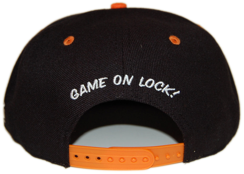 <!--2012101604-->Dissizit! - 'Game On Lock - Black/ Orange' [(Black) Snap Back Hat]