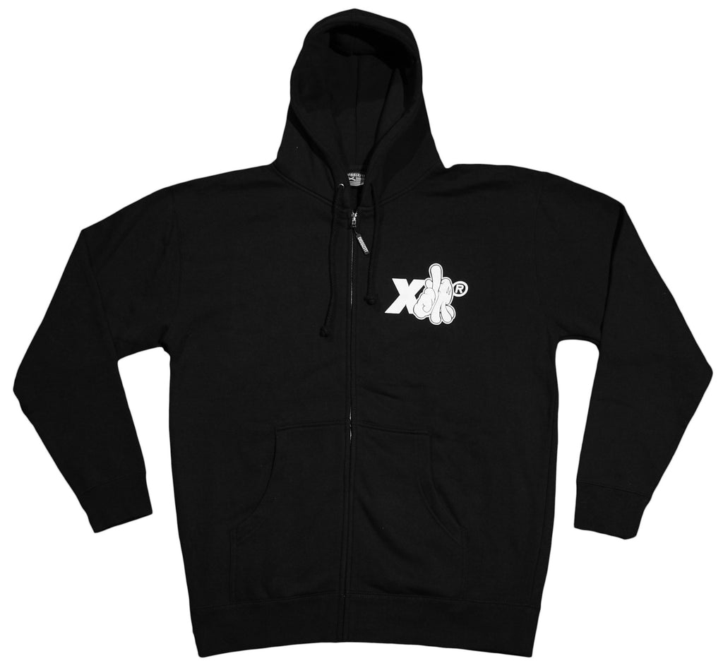 <!--2012090424-->Dissizit! x X-LARGE - 'XLA Drip' [(Black) Hooded Sweatshirt]