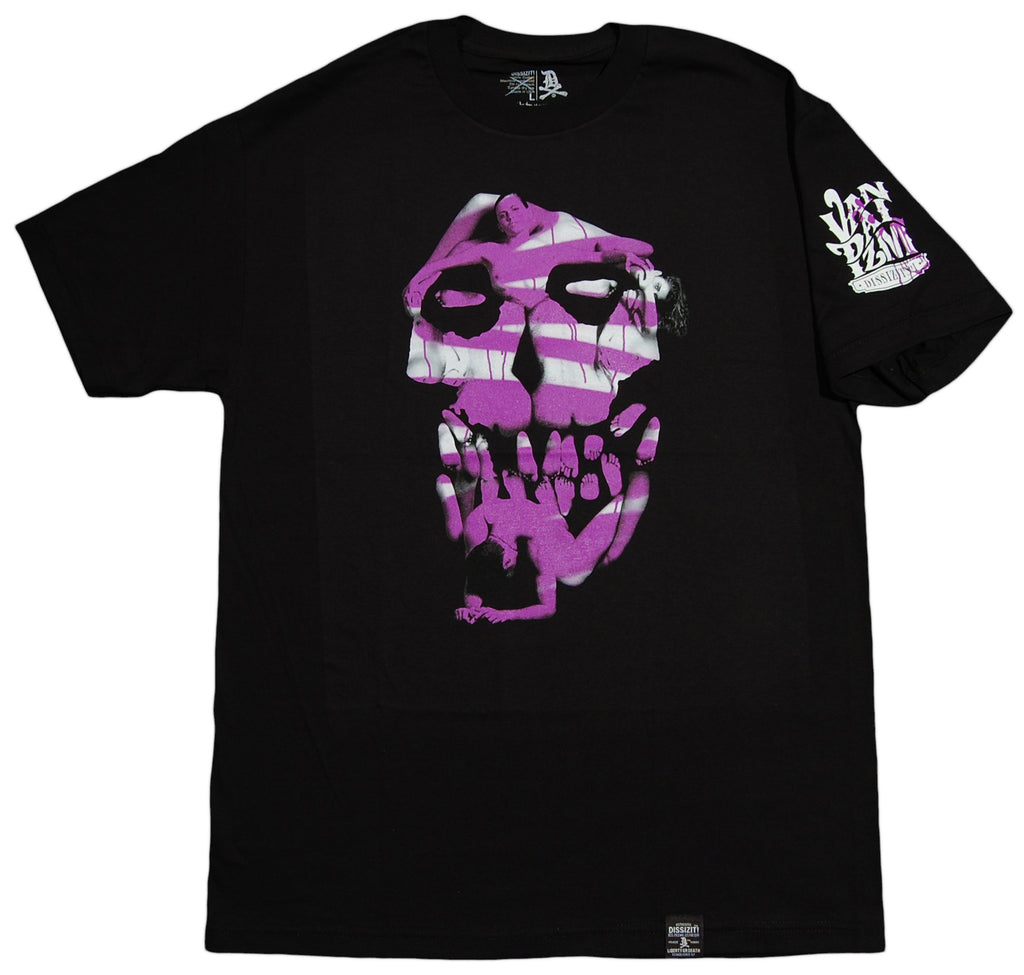 <!--2012101614-->Dissizit! - 'Vandalism - Purple' [(Black) T-Shirt]