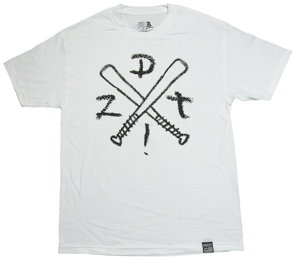 <!--2012121808-->Dissizit! - 'Crossed Bats' [(White) T-Shirt]